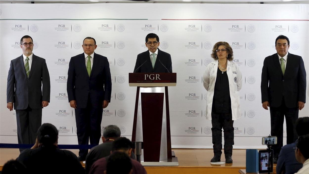 La conférence de presse des experts envoyés au Mexique à l'initiative de la Commission interaméricaine des droits de l'homme.