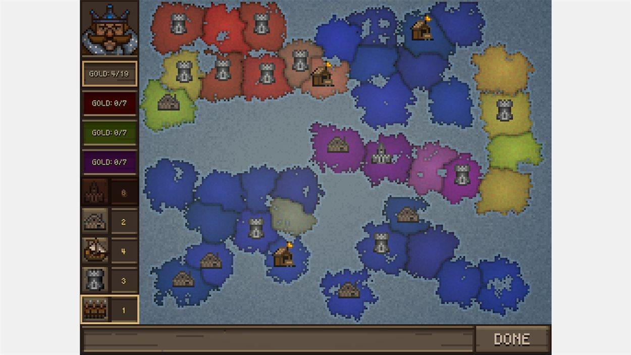 Crown and Council s'inspire de jeux de stratégie tour par tour, comme Risk et Civilization.