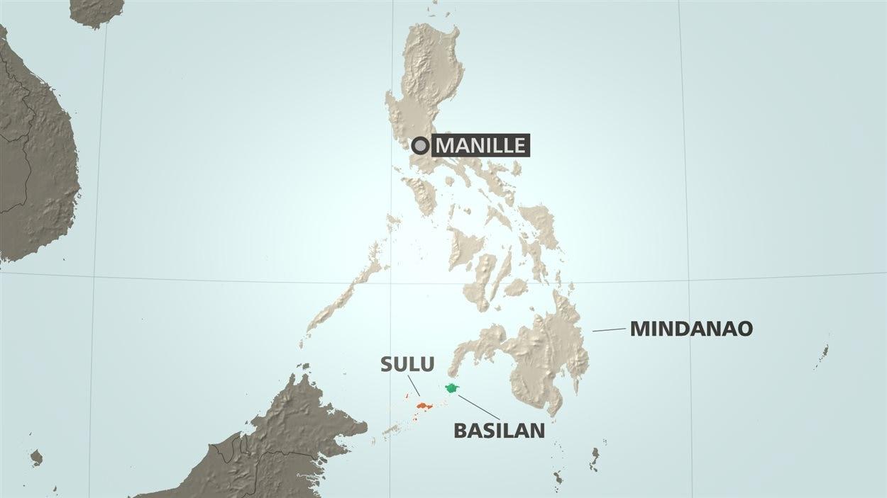 Carte des Philippines