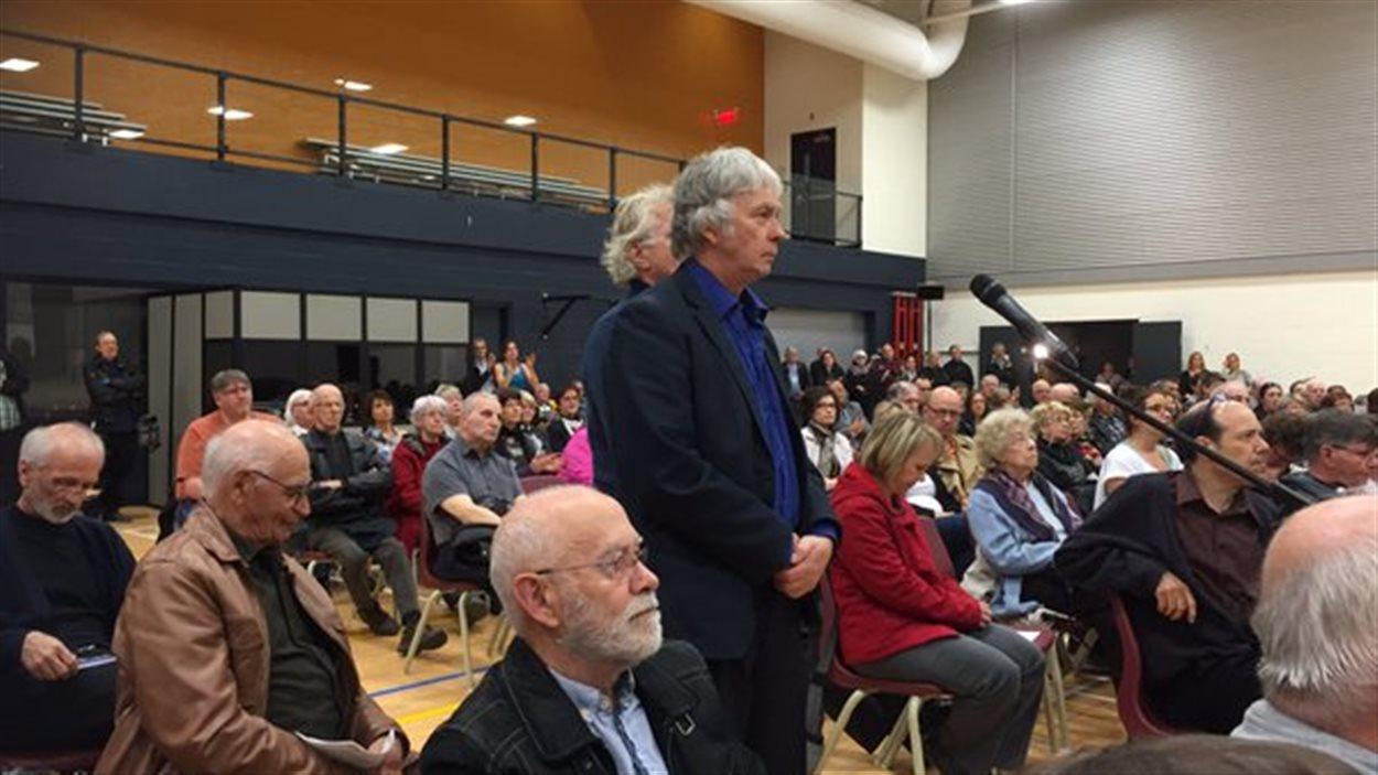 Robert Bellefleur de la Coalition; des citoyens et organismes engagés pour la sécurité ferroviaire.