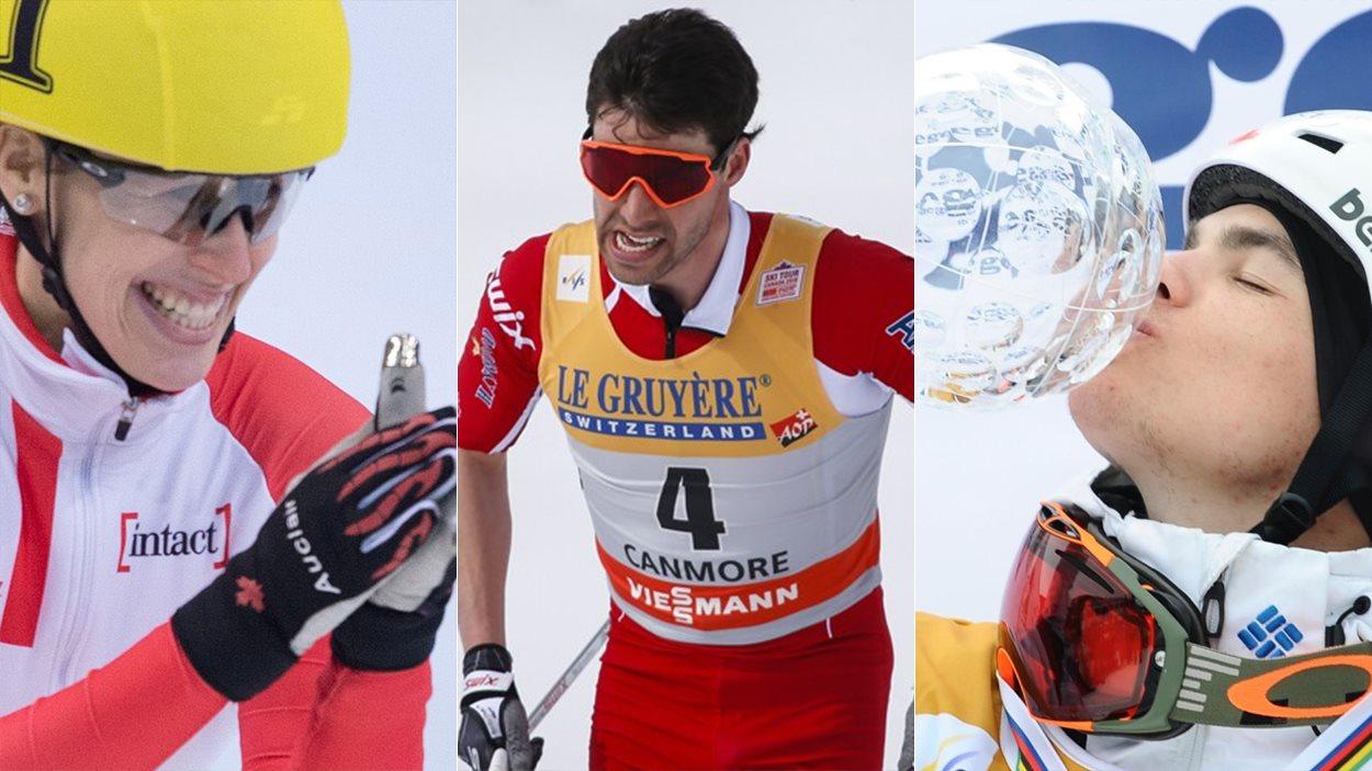 Marianne St-Gelais, Alex Harvey et Mikaël Kingsbury