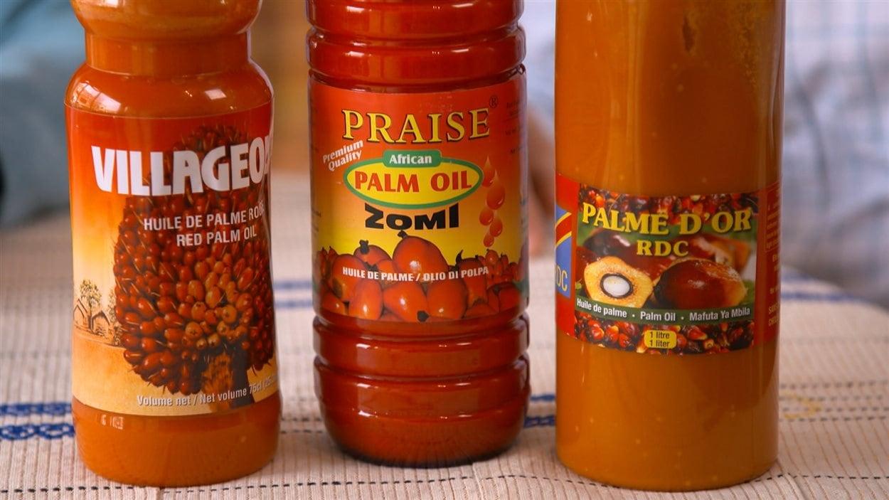 L'huile de palme est orange à l'état naturel.