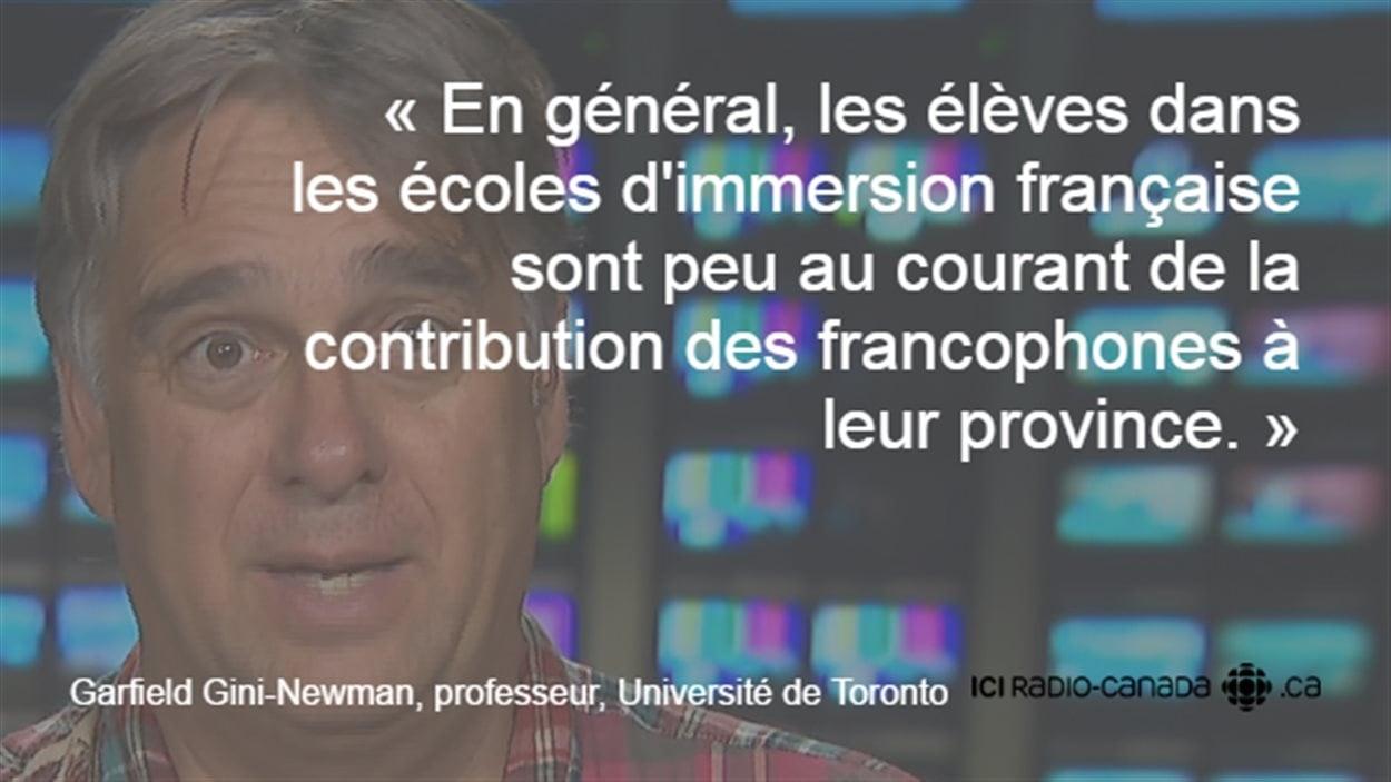 Le professeur de l'Université de Toronto, Garfield Gini-Newman