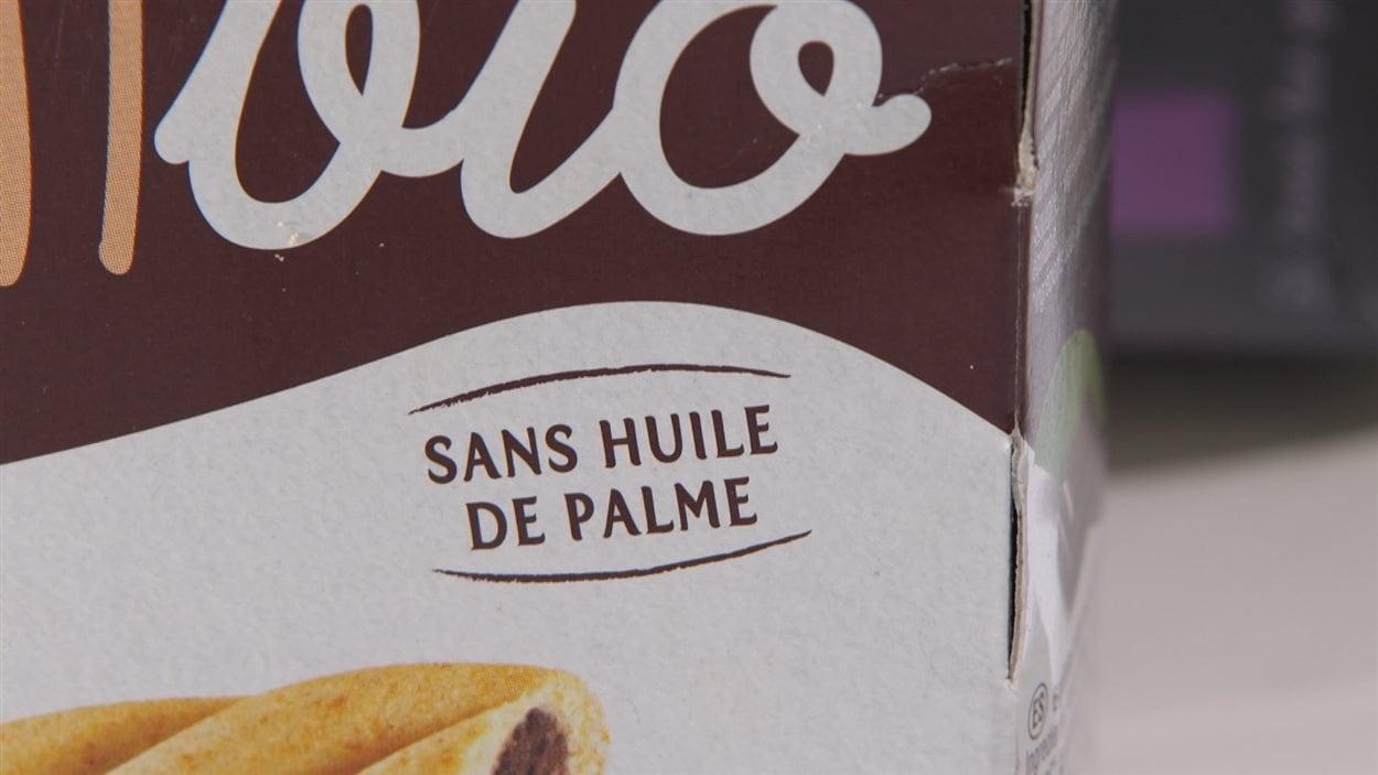 Produit sans huile de palme