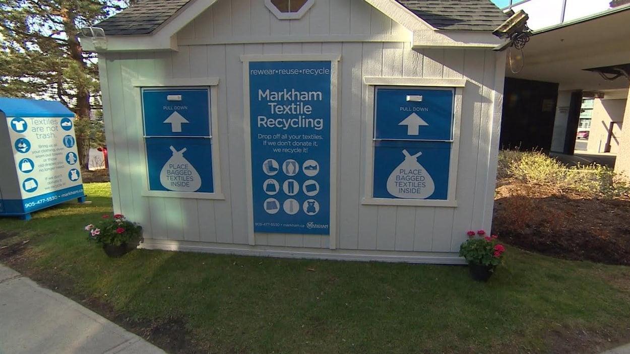 Le centre de recyclage de textiles de la municipalité de Markham, située en banlieue de Toronto.