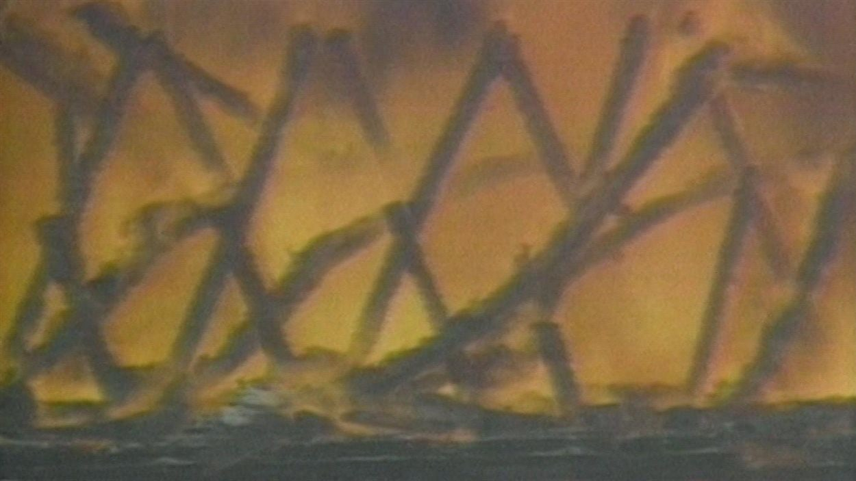 Feu de forêt au Manitoba en 1989