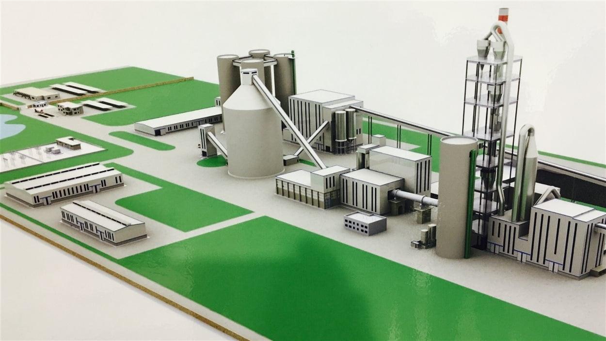 Une maquette du projet de Colacem