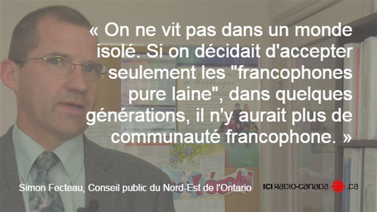 Simon Fecteau, Conseil public du Nord-Est de l'Ontario