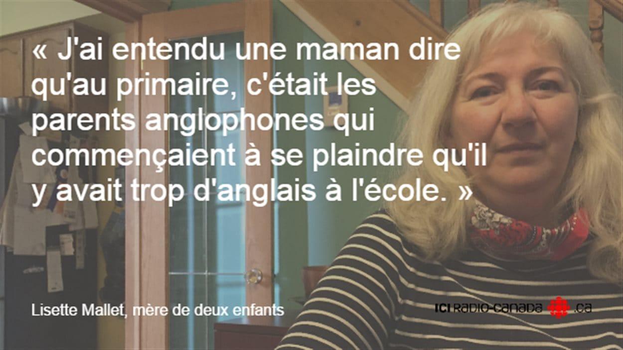 Lisette Mallet, mère de deux enfants