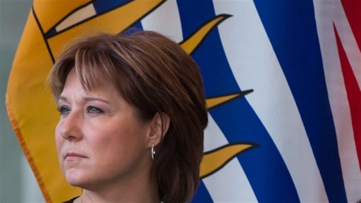 La première ministre de la Colombie-Britannique, Christy Clark