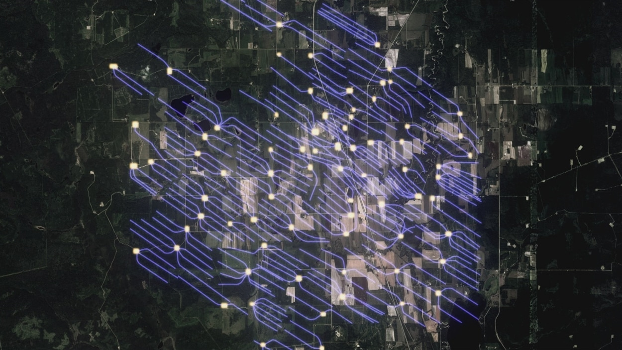 L'impact des puits horizontaux s'étend sur plusieurs kilomètres carrés.