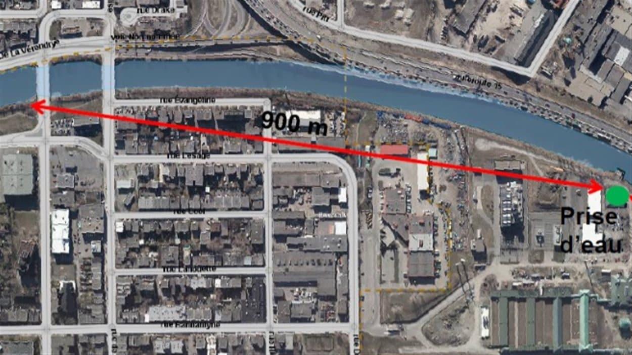 Canalisation future de l'usine de traitement des eaux Atwater à Montréal