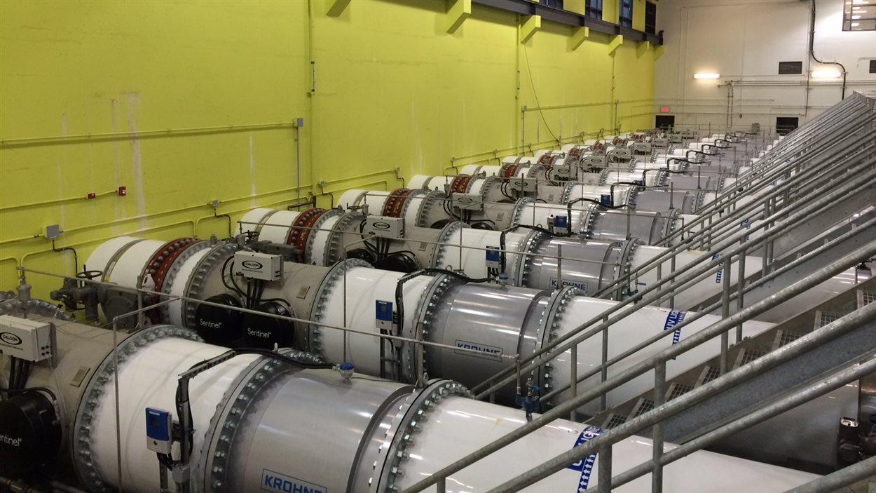 Générateurs UV de l'usine de traitement des eaux Atwater à Montréal