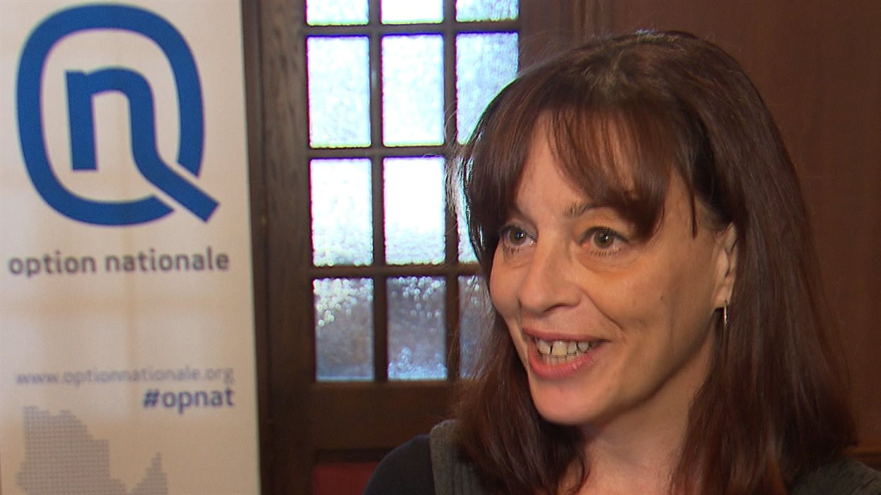 Nataly Dufour a été chef intérimaire d'Option nationale en 2013 lorsque Jean-Martin Aussant a quitté la vie politique.