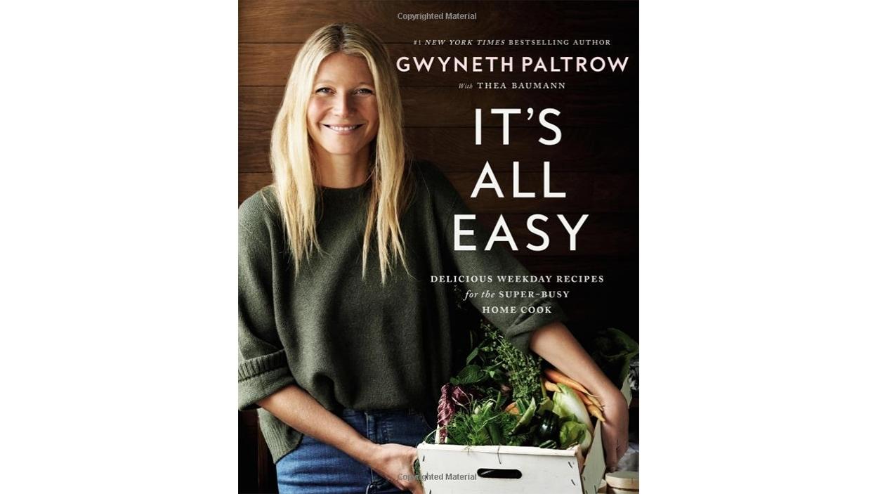 Page couverture du plus récent livre de Gwyneth Paltrow, <i>It's All Easy</i>, publié aux éditions Grand Central Life and Style