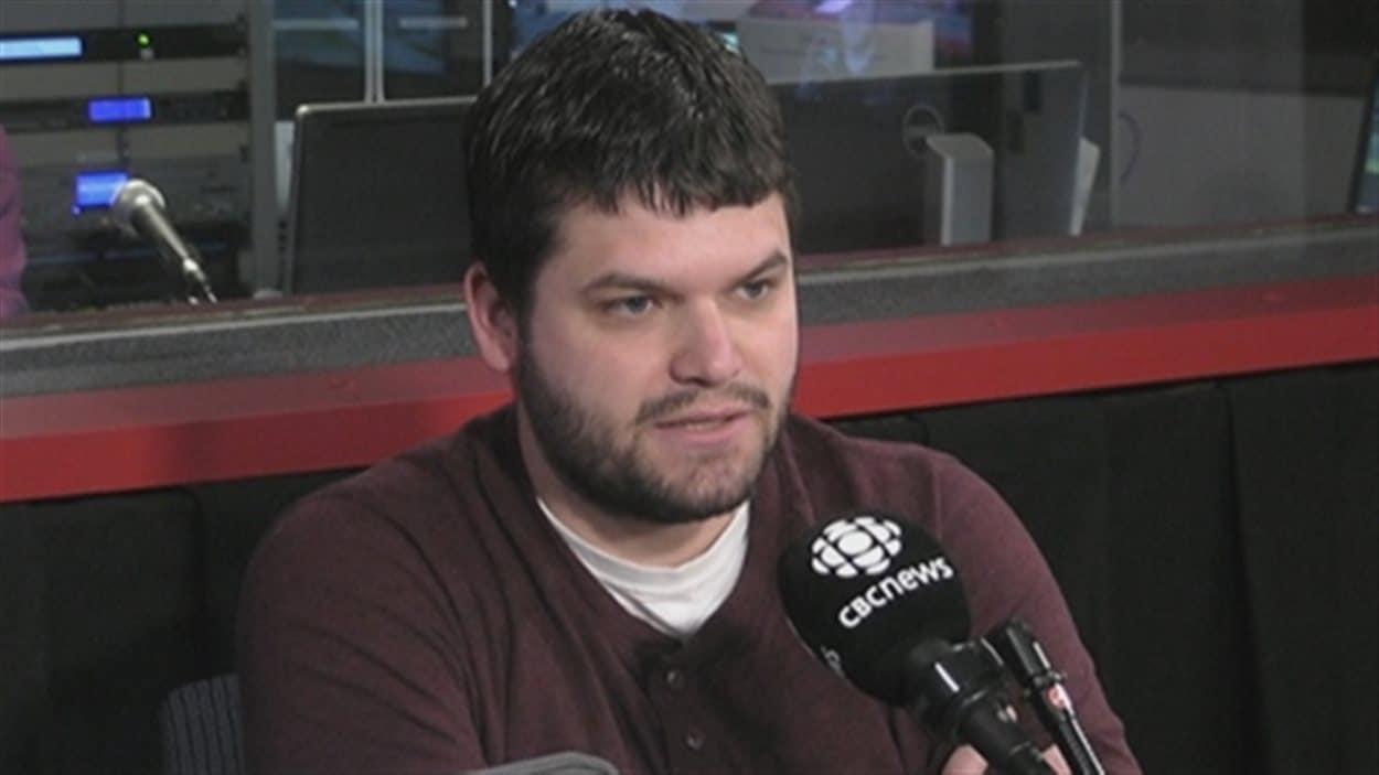 Colin Hodd fait partie de l'Organisation des diplômés du Nouveau-Brunswick, qui souhaite la remise sur pied des crédits d'impôt pour les diplômés de la province.