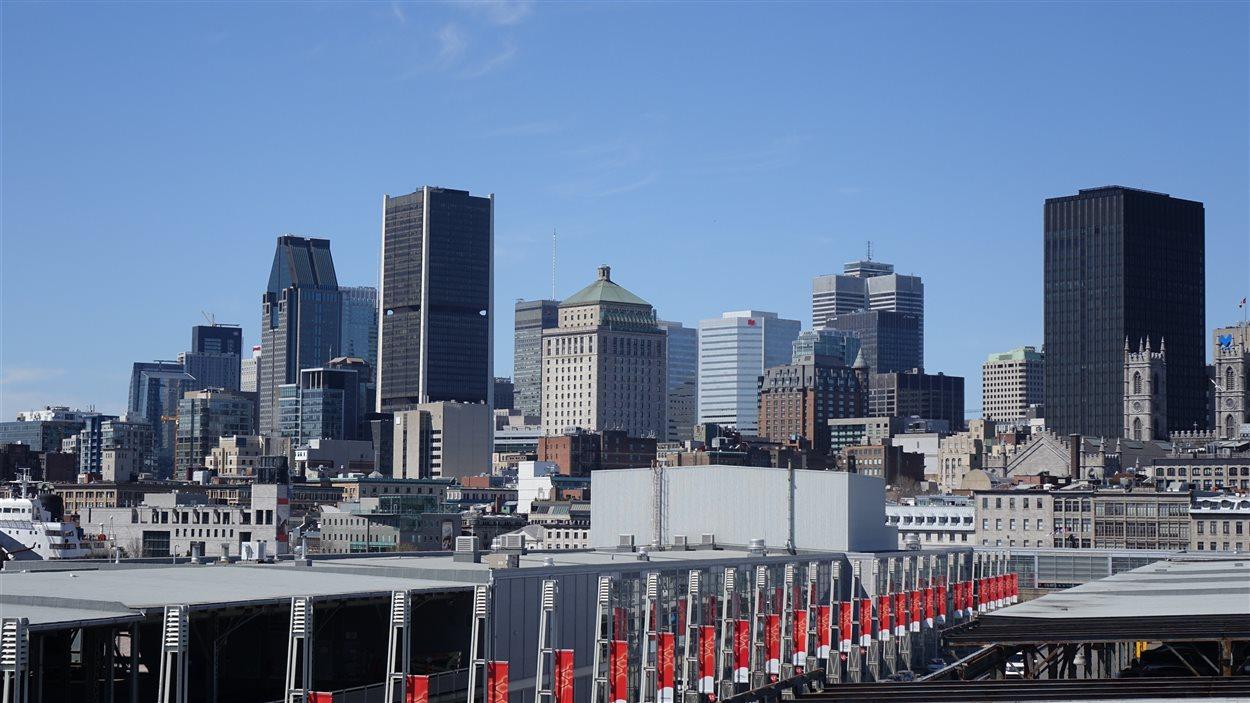 Vue sur le centre-ville depuis le Vieux-Montréal