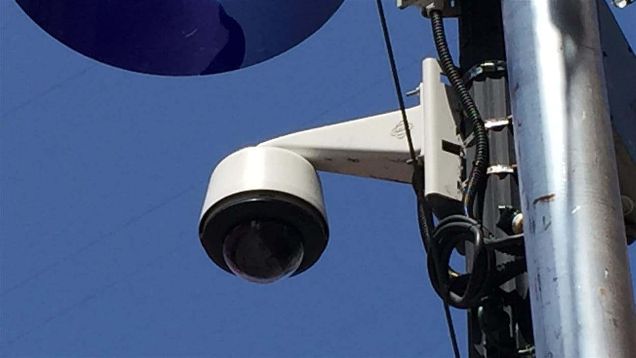 Une des rares caméras de surveillance du SPVM