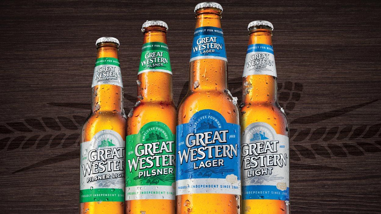 Des bières de la brasserie saskatchewanaise Great Western.