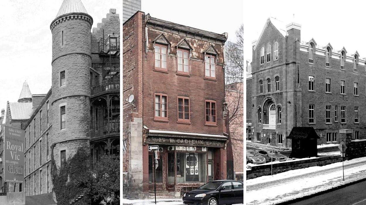 Le Royal Victoria, la Forge Cadieux et l'Hôtel-Dieu à Montréal