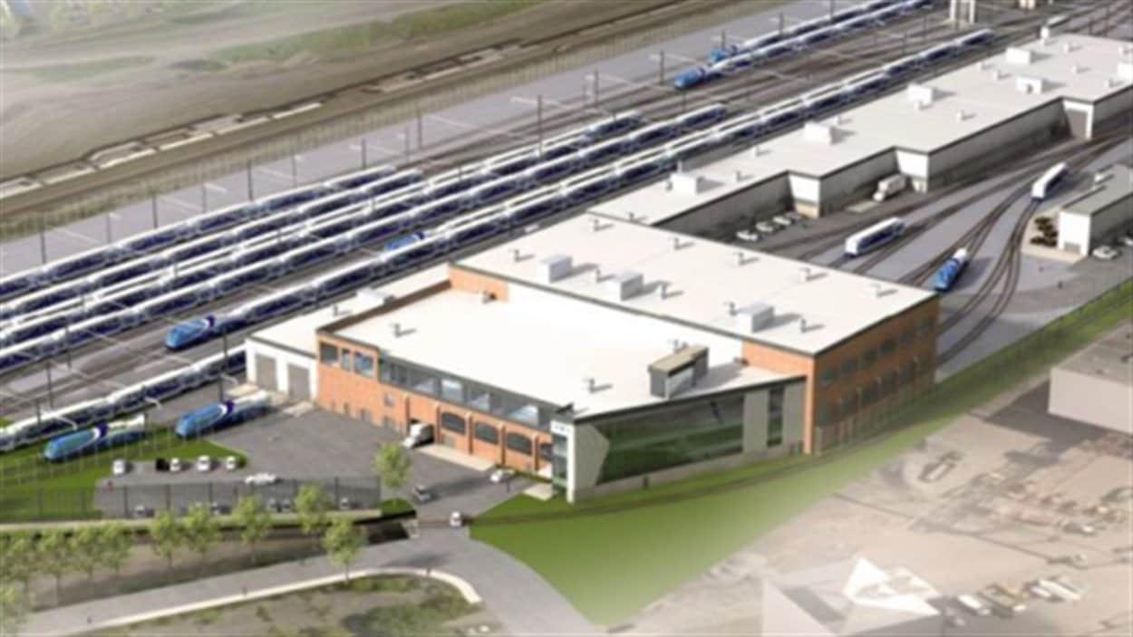 Centre d'entretien de l'AMT dans Pointe-Saint-Charles