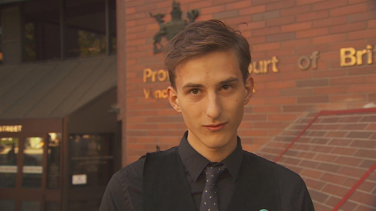 Jakub Markiewicz, militant anti-Kinder Morgan.