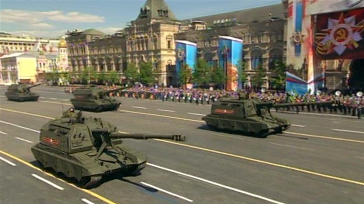 La Russie a pu exhiber ses forces militaires lors du défilé du 9 mai, alors que le pays connaît des difficultés financières.