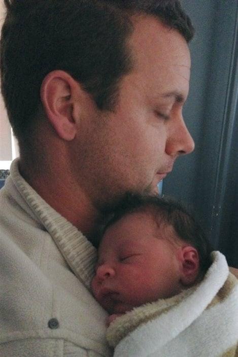 Patrick Desautels et son fils Ludovic, né le 16 octobre 2015.