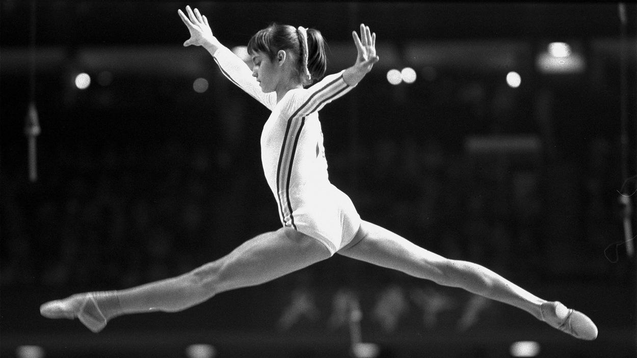 Nadia Comaneci aux Jeux de Montréal