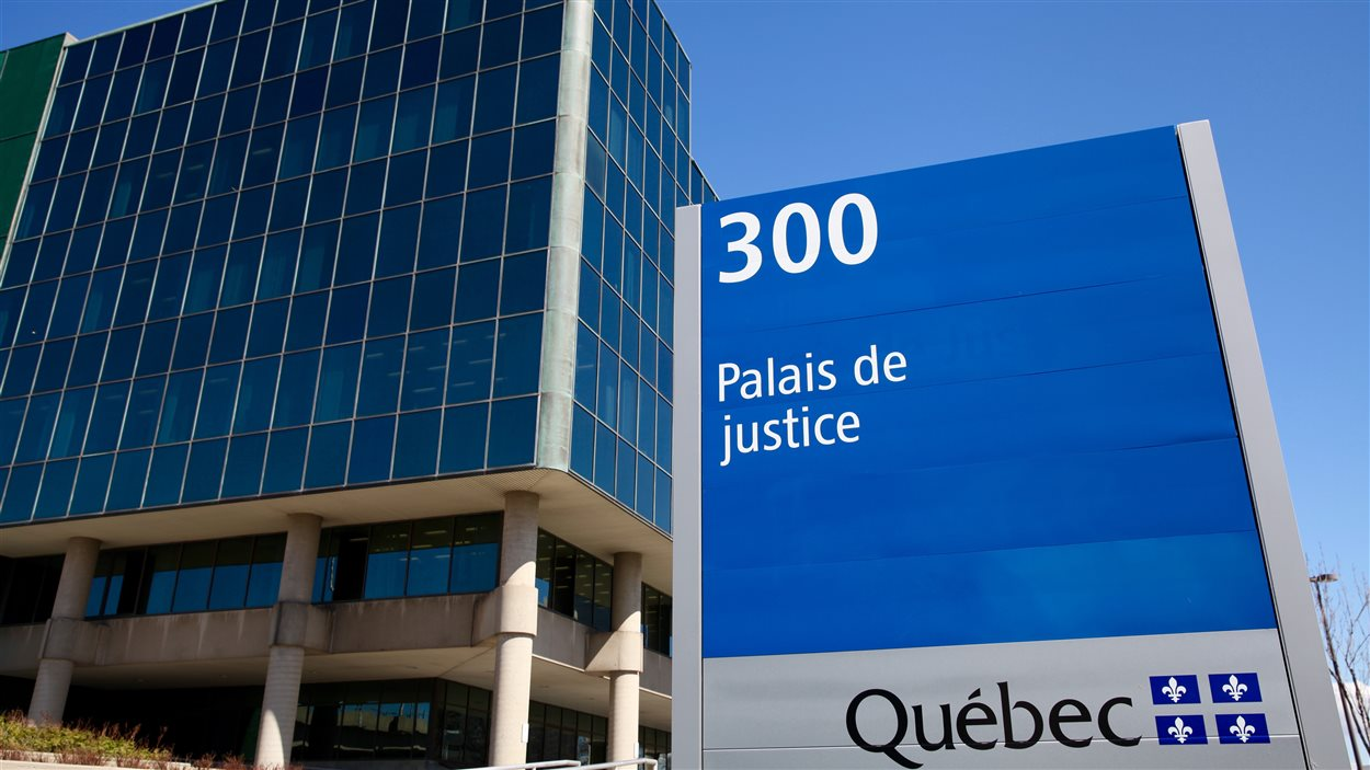 Affiche du Palais de Justice de Québec, printemps 2016