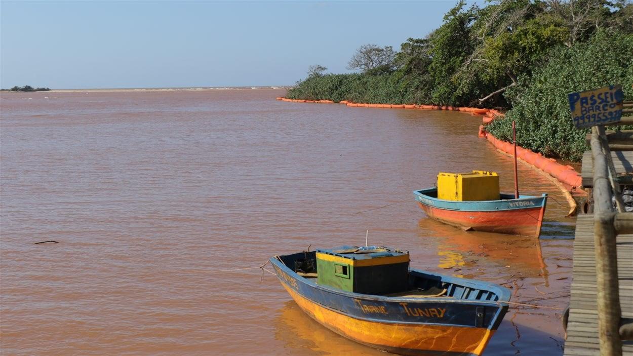Bateaux de pêche à Regencia, au Brésil