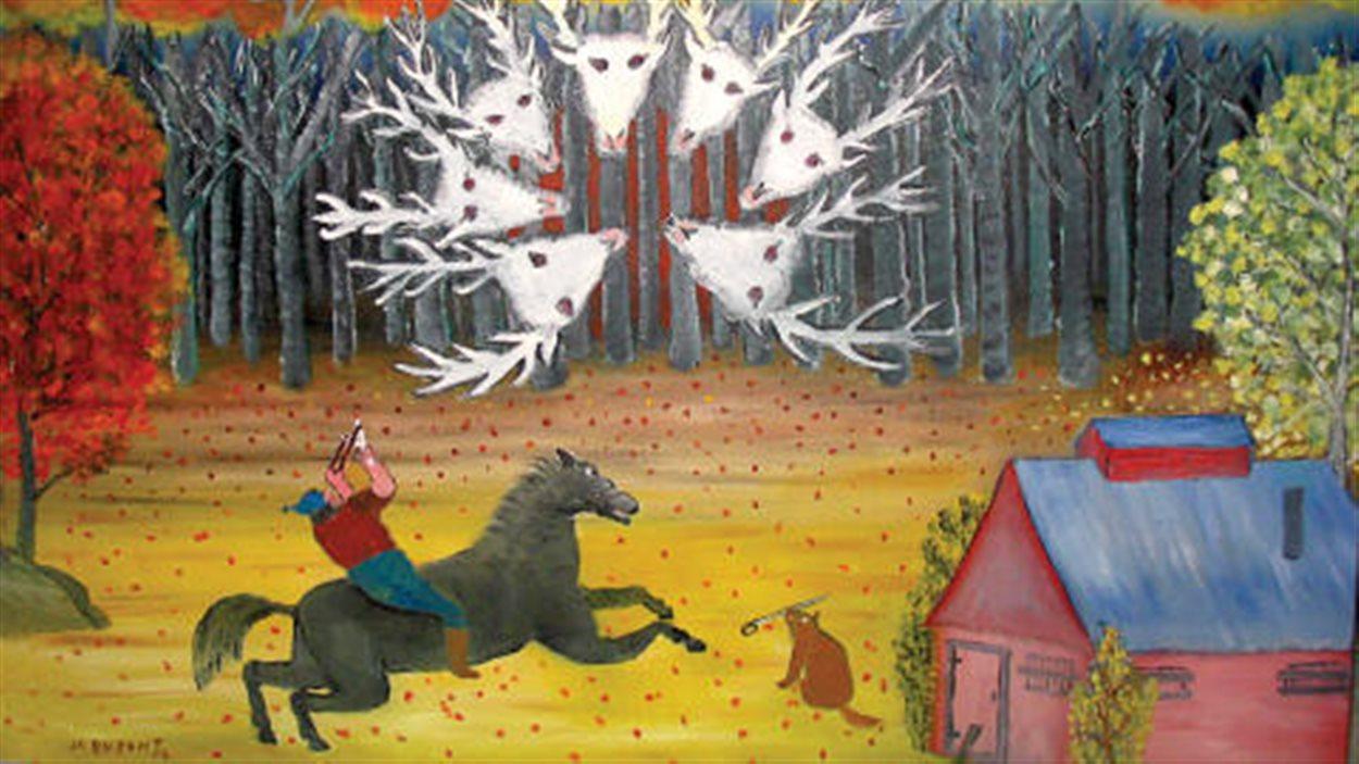 «La bête à sept têtes», illustration de Jean-Claude Dupont