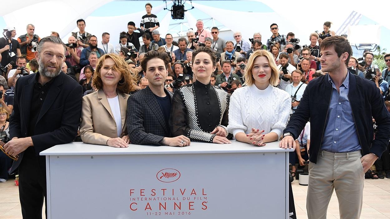 Vincent Cassel, Nathalie Baye, Xavier Dolan, Marion Cotillard, Léa Seydoux et Gaspard Ulliel