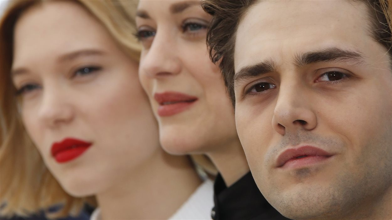 Léa Seydoux, Marion Cotillard et Xavier Dolan à Cannes