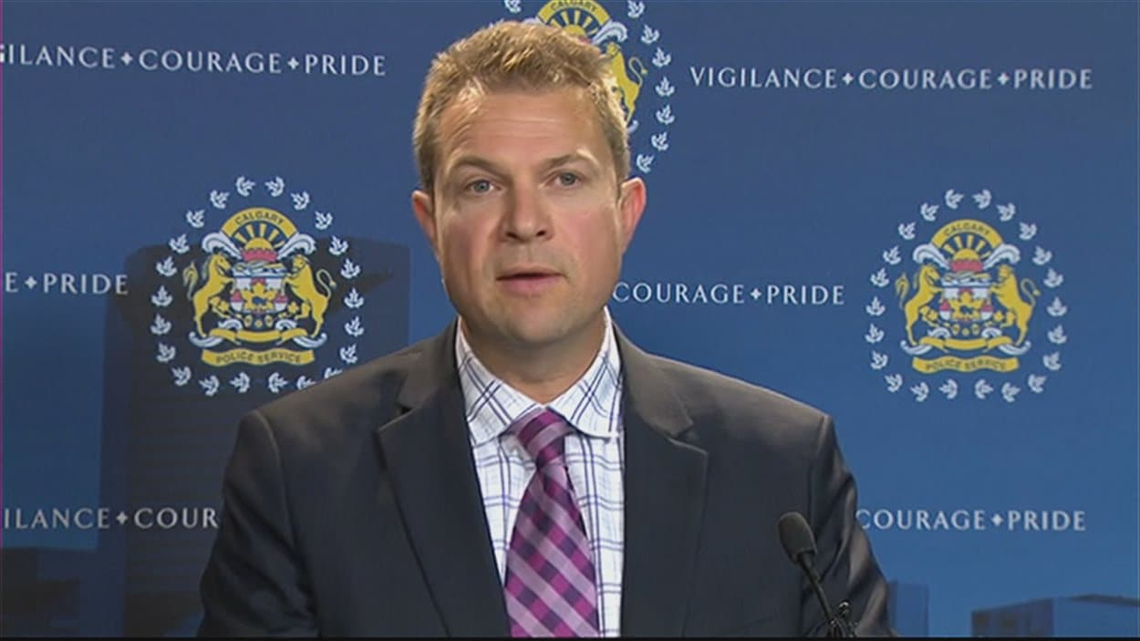 Le sergent Martin Schiavetta de la police de Calgary.