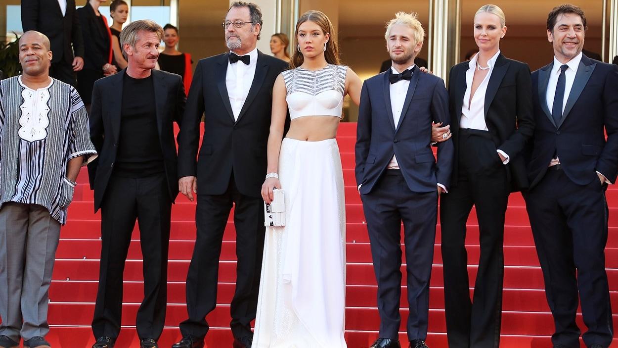 Zubin Cooper, Sean Penn, Jean Reno, Adèle Exarchopoulos, Hopper Penn, Charlize Theron et Javier Bardem au Festival de Cannes