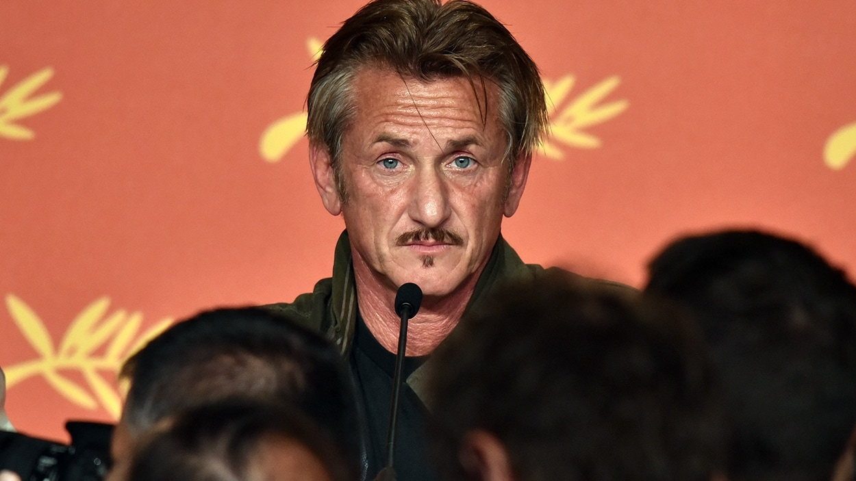 Sean Penn en conférence de presse au 69e Festival de Cannes