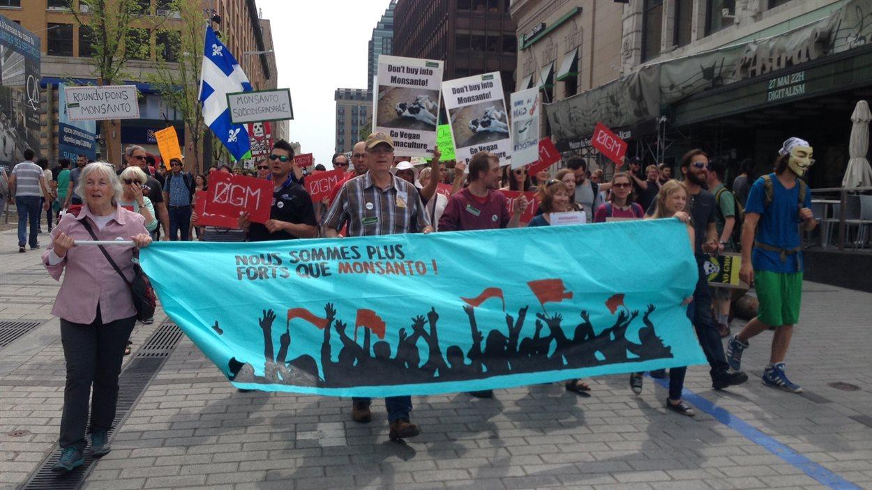 Manifestation contre Monsanto, à Montréal, le 21 mai