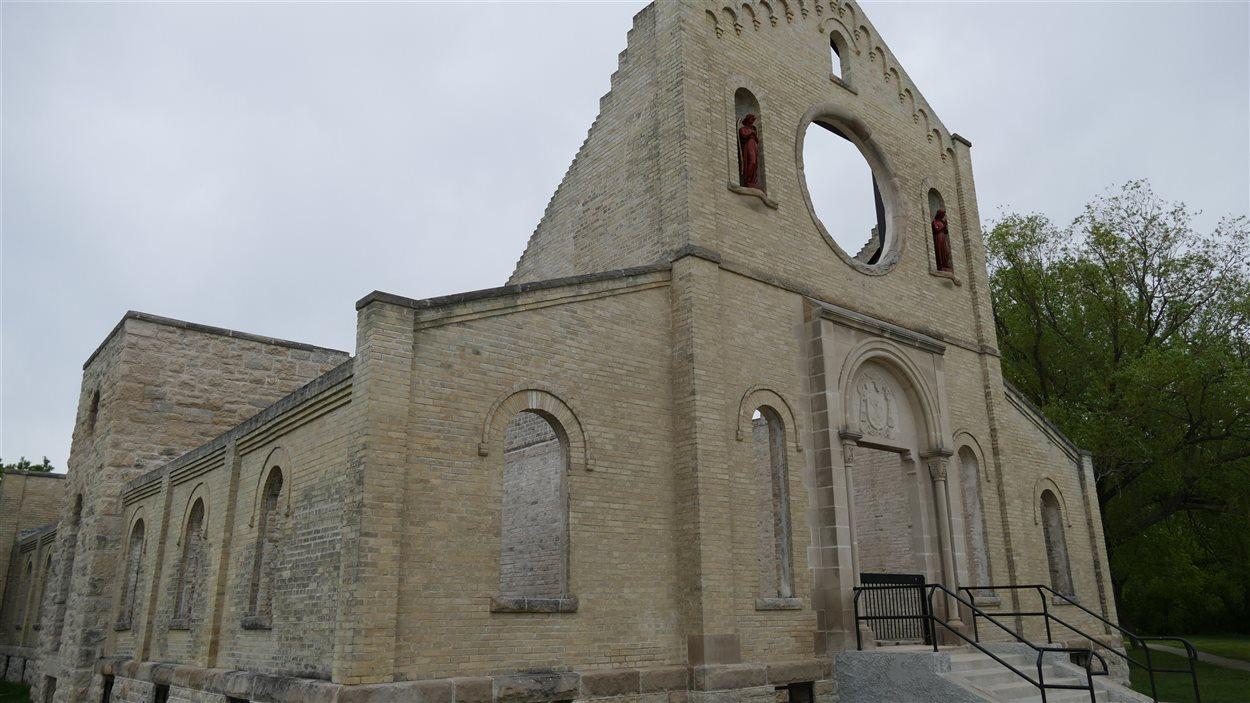 Les ruines du monastère des Trappistes de Saint-Norbert. L'endroit a été construit en 1892.