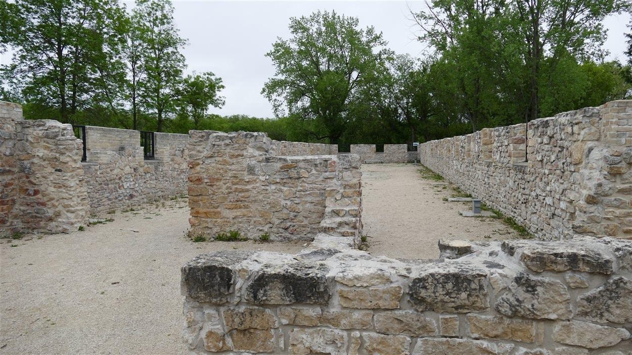 Les ruines de l'ancien bâtiment résidentiel des Trappistes de Saint-Norbert.