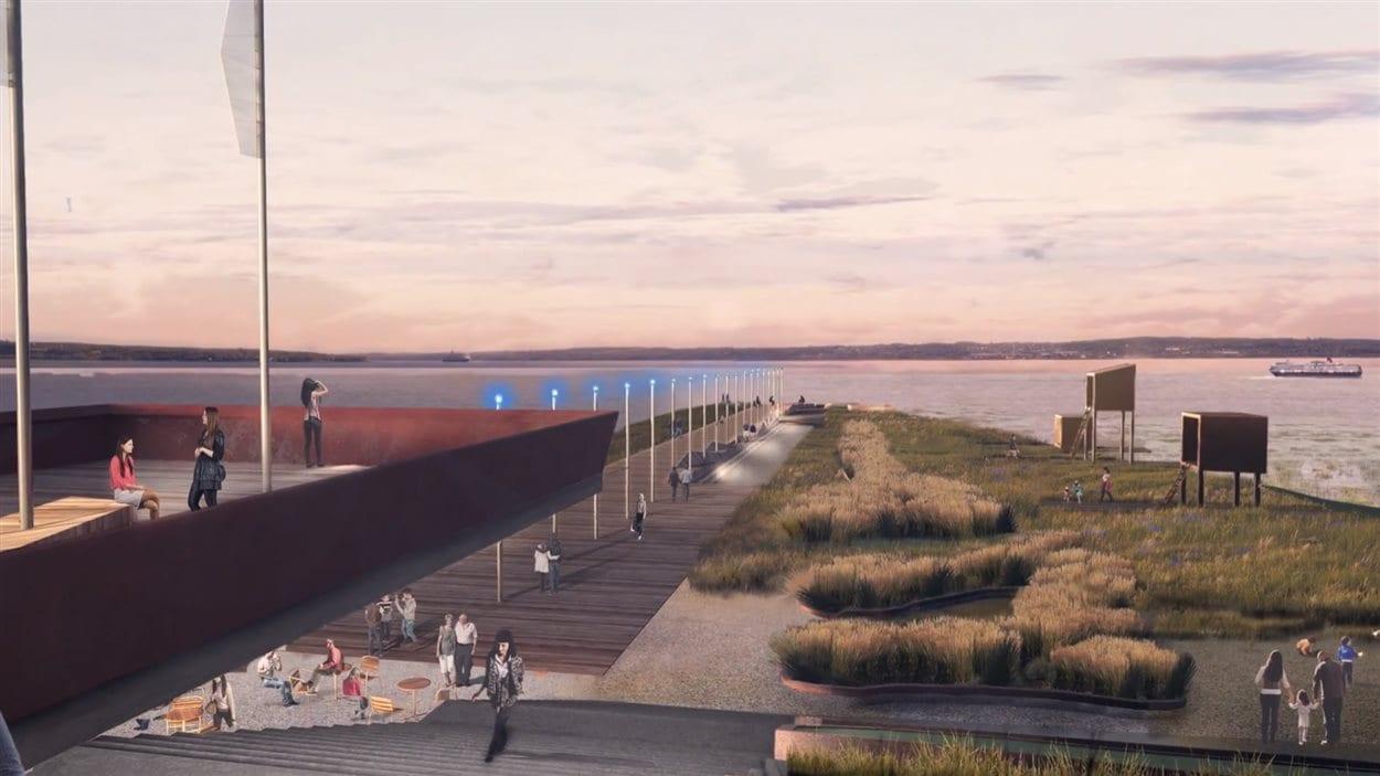 Un belvédère serait installé dans le secteur du boulevard des Chutes.