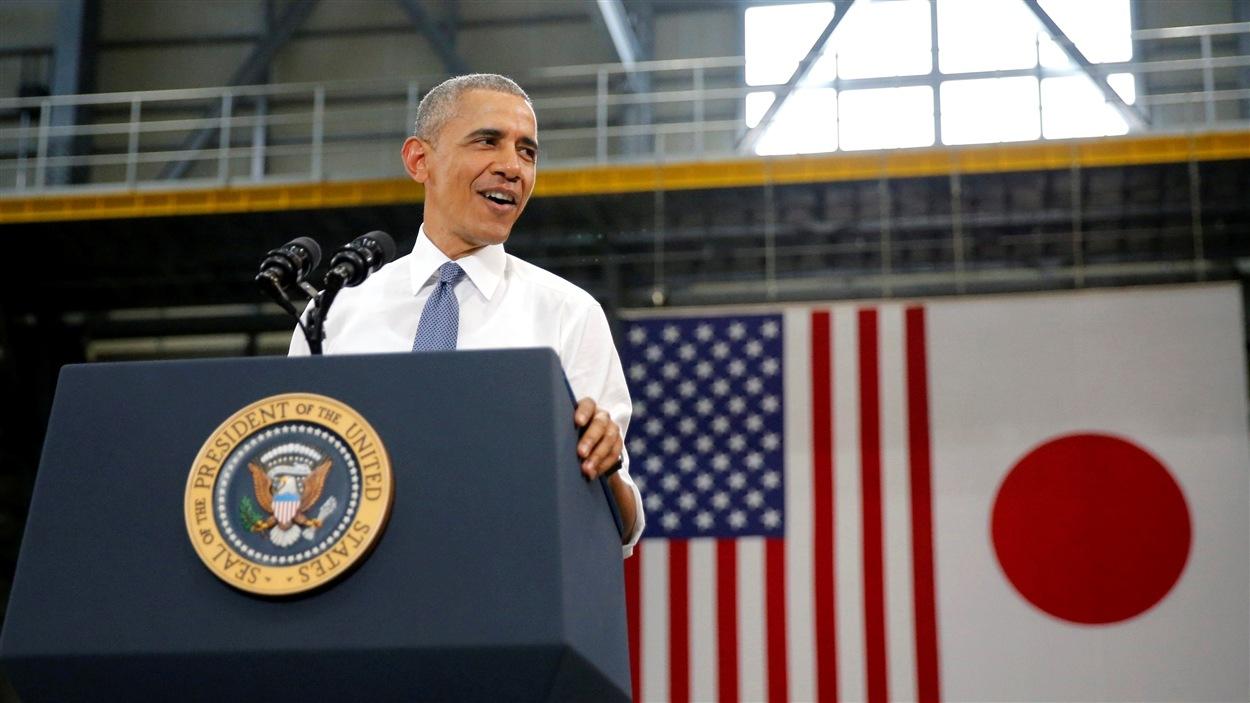 Le président américain Barack Obama au Japon