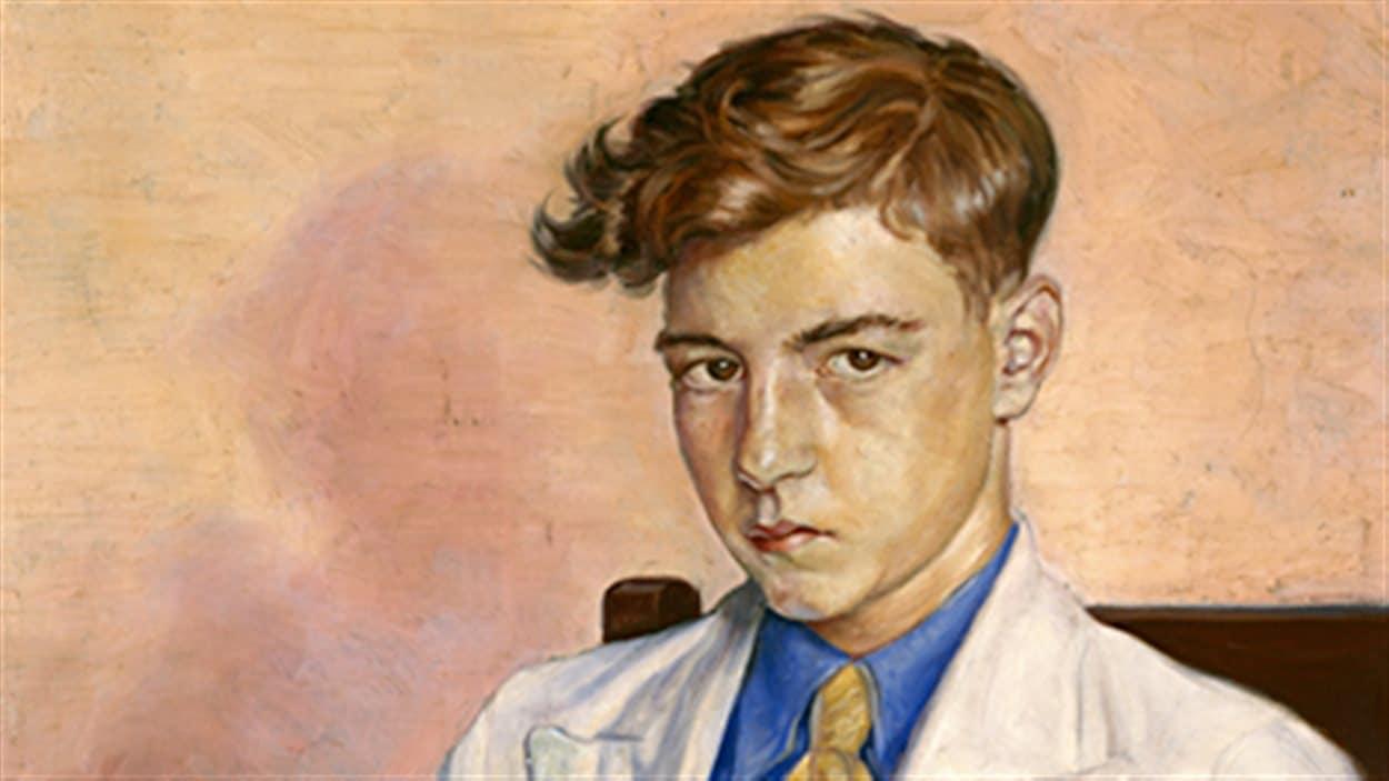 Jean Dallaire, Portrait de jeune homme (détail), huile sur toile, 76,5 x 61,4 cm, 1935. Achat de la Collection du Musée national des beaux-arts du Québec (1968.262).