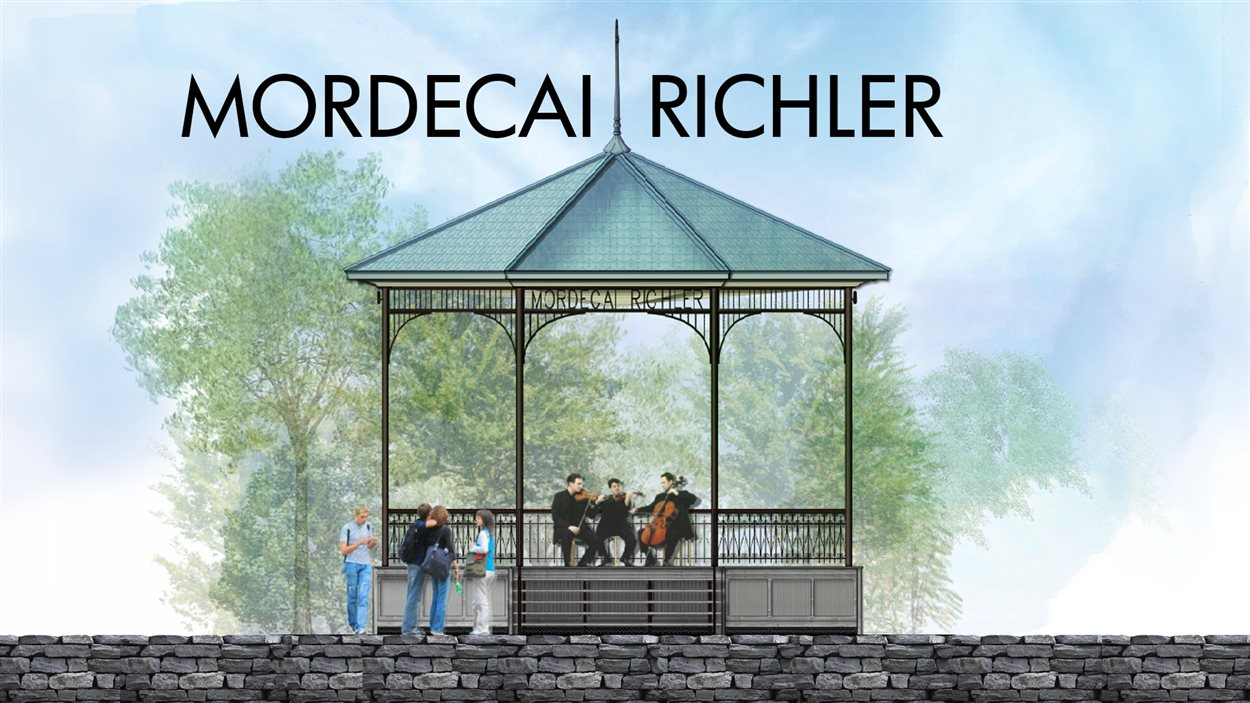 Le futur kiosque Mordecai-Richler, tel qu'imaginé par la firme d'architectes Beaupré Michaud et Associés