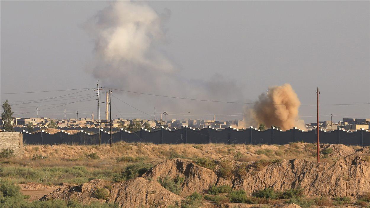 Fumée de bombardement à Fallujha