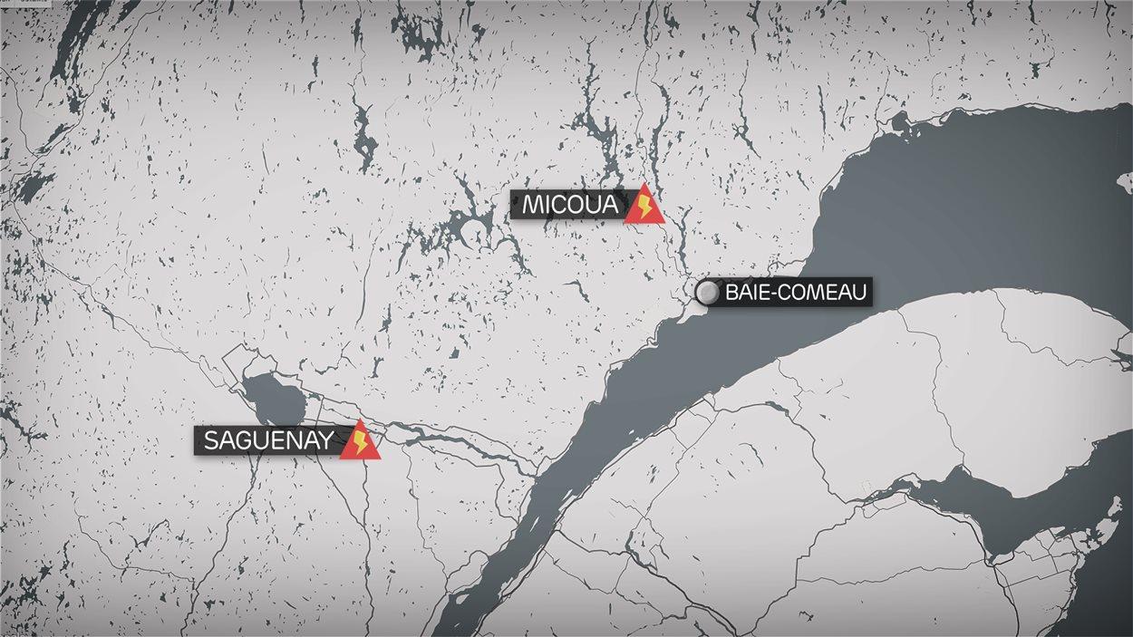 Carte Micoua-Saguenay