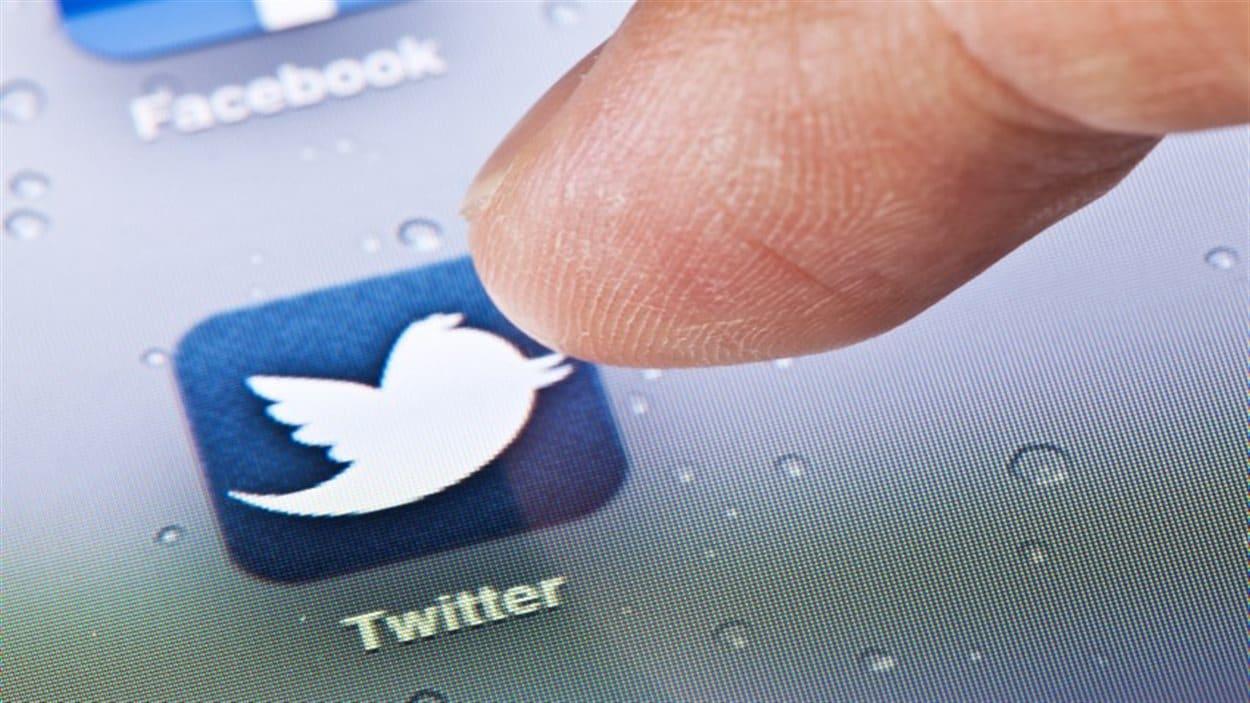 L'application Twitter sur une tablette numérique