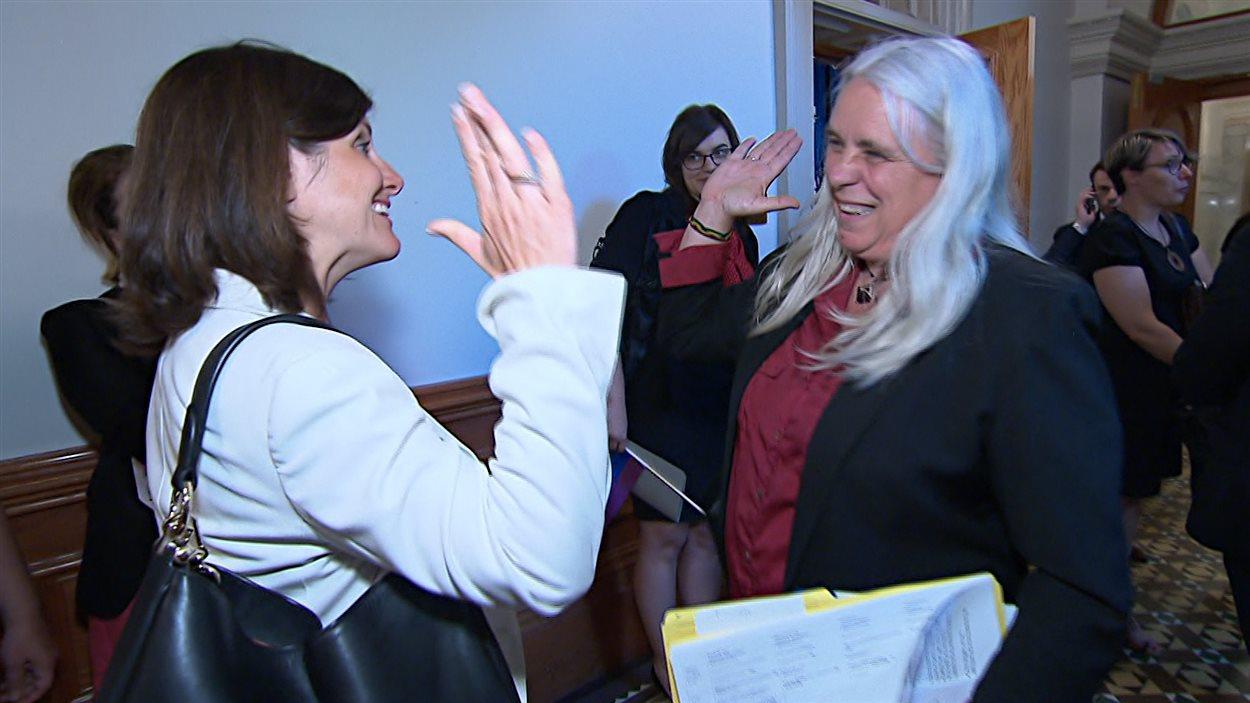 La ministre Stéphanie Vallée et la députée Manon Massé se sont félicitées du dépôt de ce projet de loi.