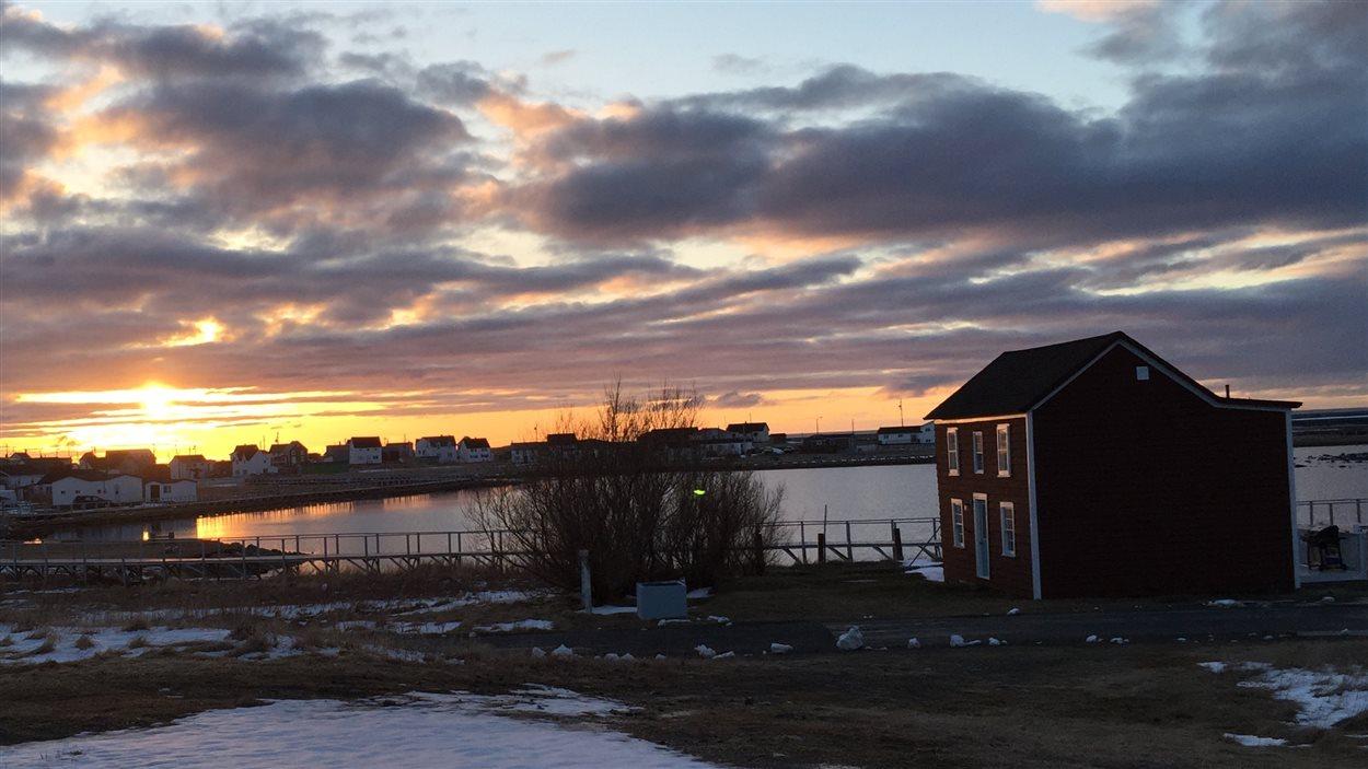 Coucher de soleil à Terre-Neuve