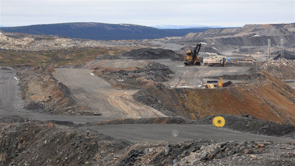 La mine du lac Bloom, près de Fermont